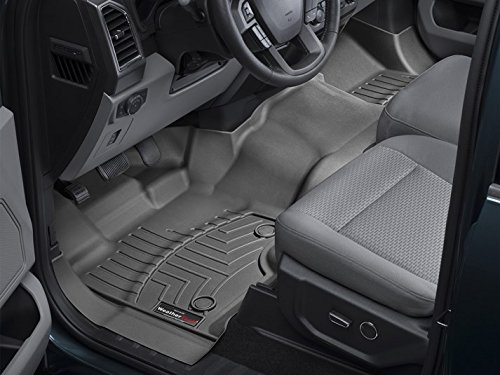 WeatherTech Compatible with 2016 Ford F-150 Floor Liners-Full Set (Includes 1st Row-Over-The-Hump and 2nd Row Uni-Liner) SuperCab (Extended Cab)-1st Row Bench-Black by WeatherTech (Image #2)