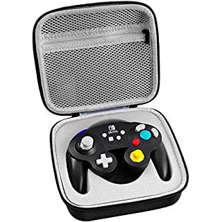 Case for PowerA Wireless/Wired Gamecube Style Controller, PDP 500-100-NA-D1 Controller for Nintendo Switch (Black)