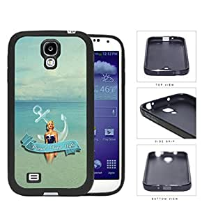 Proud Navy Wife with Vintage Pin Up Girl Anchor and Ocean View Samsung Galaxy S4 I9500 Silicone Cell Phone Case