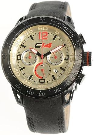 Carbon 14 Herren-Armbanduhr Chronograph schwarz E2.3