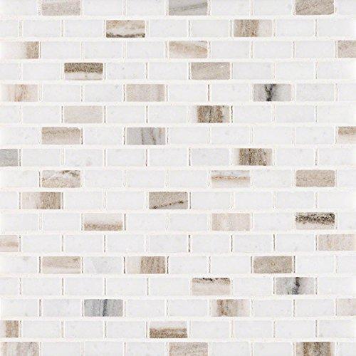Palisandro Mini Brick Polished Marble Mosaic Tile