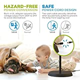 VAVA LED Torchiere Floor Lamp for Living Room, UL Adapter for Safety Voltage Conversion, Trip-Proof Two-Part Cable, Stepless Dimmable Adjustable Lamp, Memory Function, Assembly by Hand, Touch Control