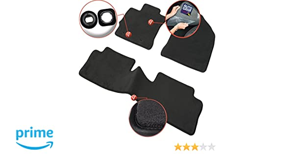 Amazon.es: DBS 1764589 Alfombrillas de coche - A medida - Alfombrillas para coche - 3 uds. - Antideslizante - Moqueta en negro 1000 g/m² - Aspecto ...