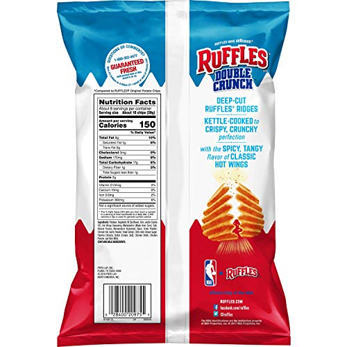Ruffles Sour Hot Wings Flavored Potato Chips