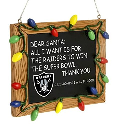 Ornament Chalkboard All I Want Is to Win the Superbowl NFL ()