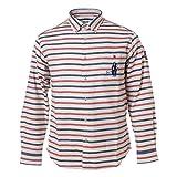 SINA COVA SINACOVA Men's Long Sleeve Shirt Off-White/Red/Navy X-Large