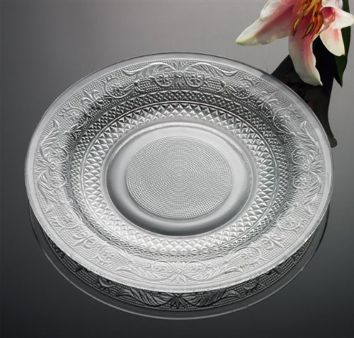 LARGE GLASS PLATE - LARGE DESIGNED GLASS PLATE