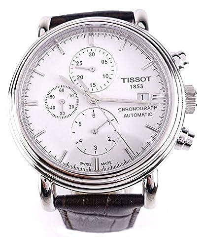 Tissot Men's T068.427.16.011.00 White Dial Carson Watch - Chronograph White Dial