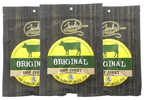 Jerky.com's Original Beef Jerky - 3 PACK - All-Natural, No Added Preservatives, No Added Nitrites or Nitrates - 9 total oz. ()
