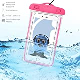 Samsung Galaxy A5 2017 Pink TRANSPARENT Underwater Protection Touch Responsive Dry Bag Case Cover for Samsung Galaxy A5 2017