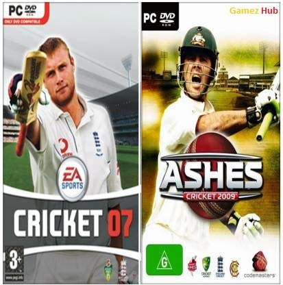Gamez Hub EA Cricket 07 and Ashes Cricket 2009 Sports