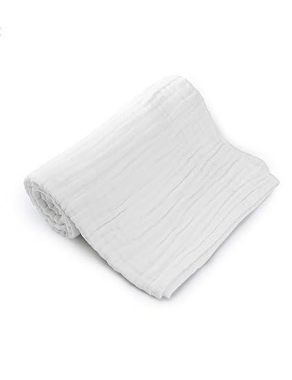 TOWEL Toallas de algodón de algodón de Gasa Toallas de Gasa de Lavado 115x115cm 6 Capas