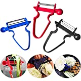 Magic Trio Peeler, Yostyle Vegetable Peeler Stainless Steel Slicer Peeler Set, Multi functional Kitchen Tools for Potatoes/Carrots/Apples/Oranges/Cabbage and Other Vegetables & Fruits(Set of 3)