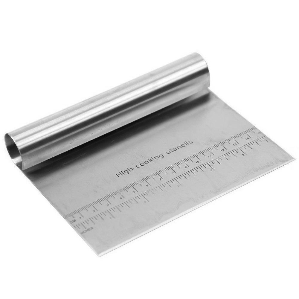 Multifunktionale Edelstahl Kuchen Teig Scraper Blade Pizza Teig Brot Separator Cuttermesser mit Skala Gosear