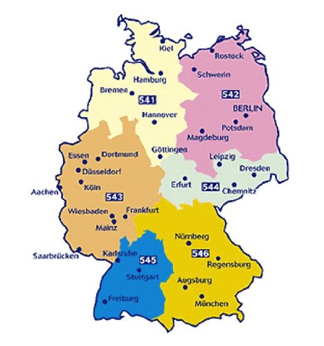 Road Map Of Germany 2017.Michelin Germany Road Map Package Maps 541 546 Six Maps