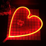 Neon Light,LED Heart Sign Shaped Decor Light,Wall Decor for Chistmas,Birthday party,Kids Room, Living Room, Wedding Party Decor