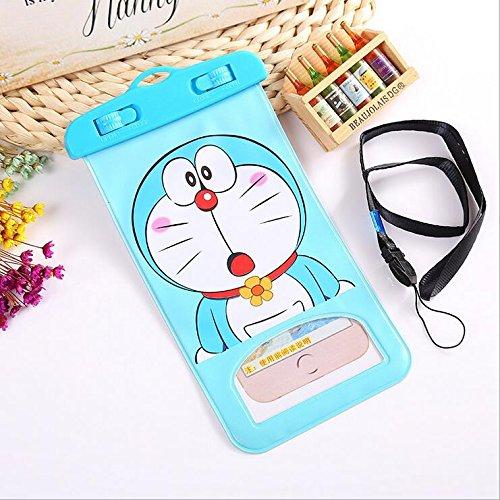 Cartoon Universal Waterproof Case Phone Pouch Dry Bag for Apple iPhone X / 8 / 7 / 6 / 6s plus Samsung galaxy S8 / S7 LG V20 Google Pixel HTC (Doraemon)