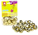 Creative Hands by Fibre-Craft – 20-Piece 25mm Gold Jingle Bells Pack