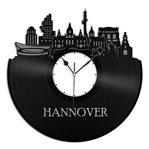 VinylShopUS Hannover City Skyline Vinyl Wall Clock Cityscape Ideal For Room Decorative | Home Decoration by VinylShopUS