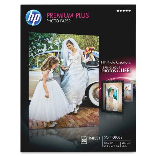 HP Photo Paper Premium Plus, Soft Gloss, (8.5x11 inch), 50 sheets