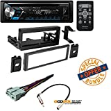 Single Din CD Receiver with USB & Aux Input W/ CAR STEREO DASH INSTALL MOUNTING KIT + WIRE HARNESS + RADIO ANTENNA FOR CADILLAC CHEVROLET GMC