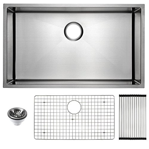 Frigidaire Undermount Stainless Steel Kitchen Sink, 10mm Radius Corners, 16 Gauge, Deep Basin, 32