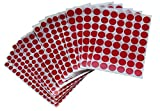 Red Dot Stickers for all purpose - assorted size circle labels - Great round sticker for many surfaces - and stick - 1340 Pack