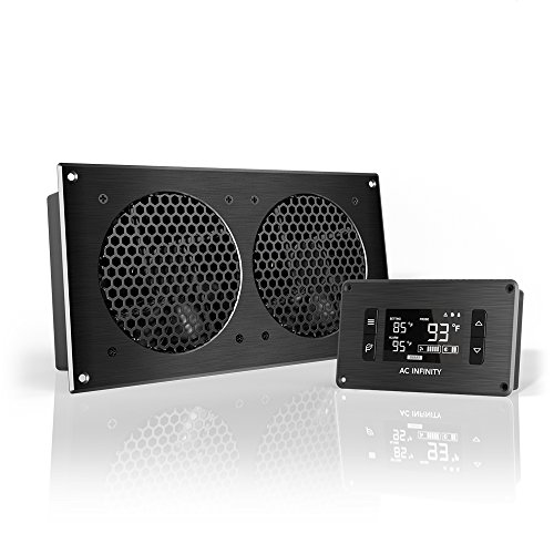 - AC Infinity AIRPLATE T7, Quiet Cooling Fan System with Thermostat Control, for Home Theater AV Cabinets