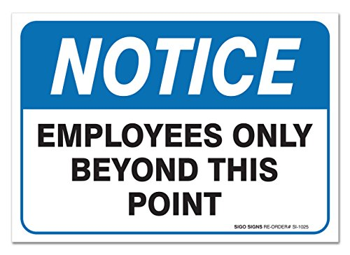 (2 Pack) Employees Only Sign, 7 X 10