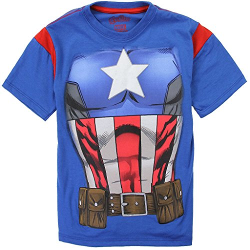 Captain America Marvel Avengers Little Boys Costume Tee (7)