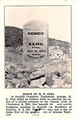 Grave of MR Peel Tombstone, Arizona postcard