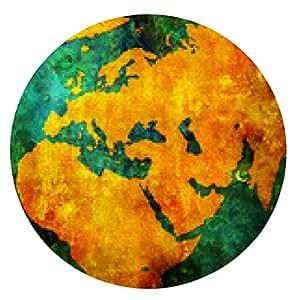 alfombrilla de ratón Bandera de Pakistán en el mapa del mundo - ronda - 20cm