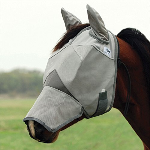 Cashel Crusader Fly Mask with Ears and Long Nose – Size: Arab, Cob, Small Quarter Horse