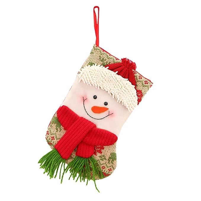 Sencillo Vida Calcetines de Navidad, Media de Navidad, Bolsa de Regalo, Colgar Bolsas, Colgante de Chimenea, Decoración de Navidad, Regalo para Niños, ...