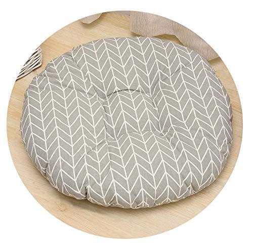 Round Shape Seat Cushion Silk Cotton Core Polyester Tatami Cushion Pillow Car Sofa Cushion,13,40X40Cm