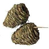 Emours Pet Chew Play Toy Timothy Hay Corn Maize for Rabbit Chinchilla Guinea Pig ,2 Pack