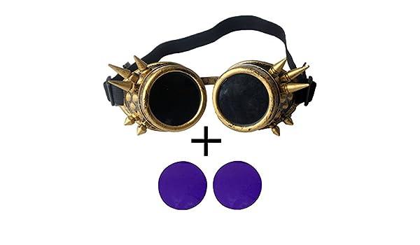 zaiqun Cyber gafas STEAMPUNK soldadura Goth Cosplay Fotos rústico Vintage: Amazon.es: Hogar
