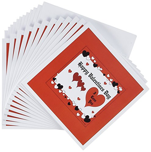 Price comparison product image 3dRose Happy Valentines Day - Greeting Cards, 6 x 6 inches, set of 12 (gc_9242_2)