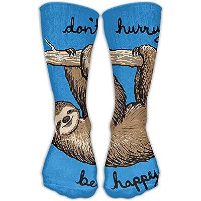 Dacrew Funny Blue Sloth Unisex Novelty Crew Socks Ankle Dress Socks Fits Shoe Size 6-10 - Highsocks215