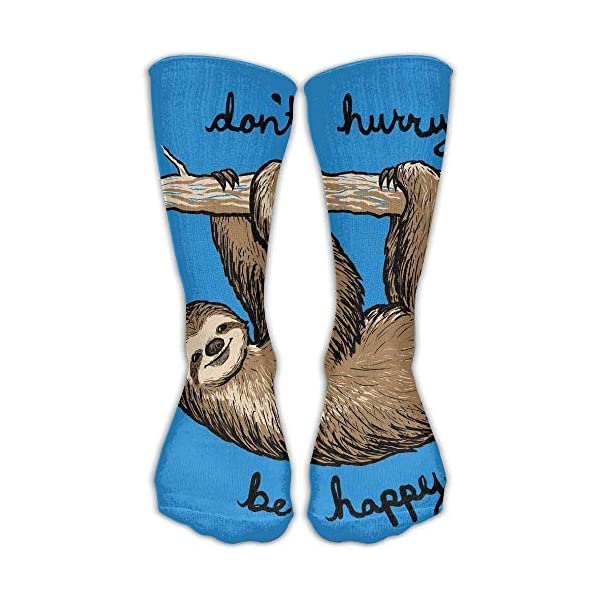 Dacrew Funny Blue Sloth Unisex Novelty Crew Socks Ankle Dress Socks Fits Shoe Size 6-10 -