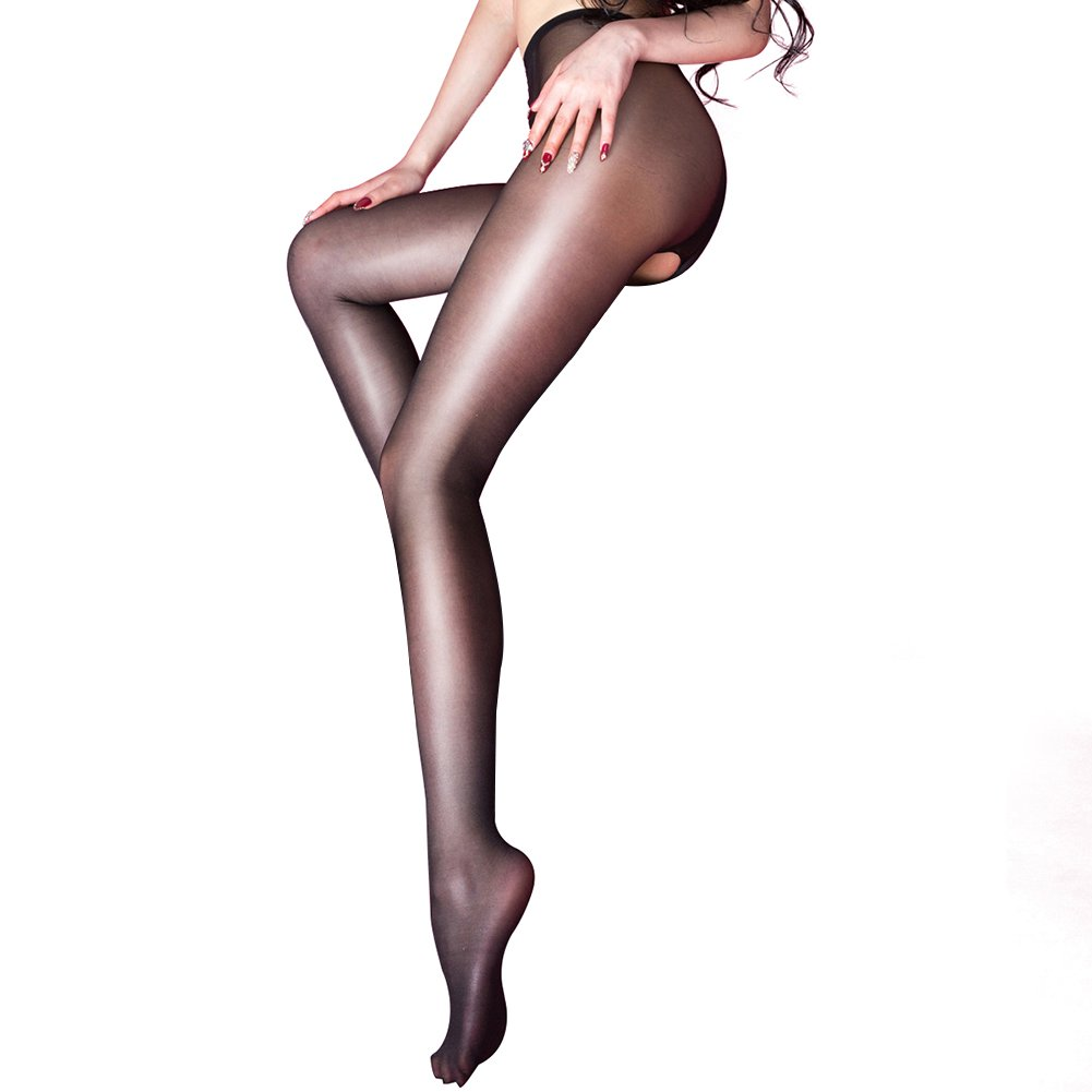 1bb6a7bf0 Attractive Open Crotch Design Open Crotch Sexy Silk Stocking style fits for  nightwear