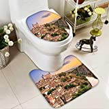 SOCOMIMI Lid Toilet Cover Collection Toledo Spain Old City Over The Tagus River Downtown Castle Architectural Ancient Personalized Durable