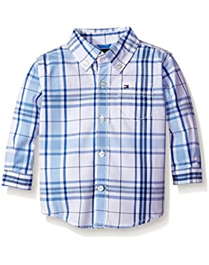 Tommy Hilfiger Baby Boys' Long Sleeve Ethan Shirt