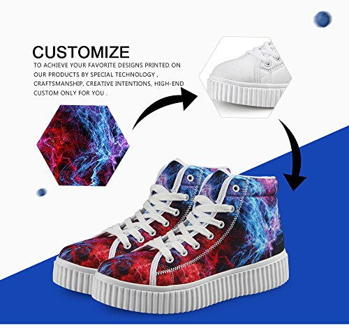 FancyDesign Skate Wear High Traveling Zlkca5132by for Shoes Sneaker Top Walking Women Daily with Thick Sole Hiking ntrUxt