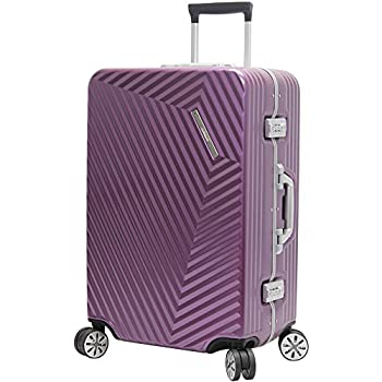 Image of Luggage Andiamo Elegante Suitcase with Built-in TSA Lock - Zipperless 28 Inch Hardside Checked Bag- Lightweight (ABS+PC) Luggage With 8-Rolling Spinner Wheels (Quartz)