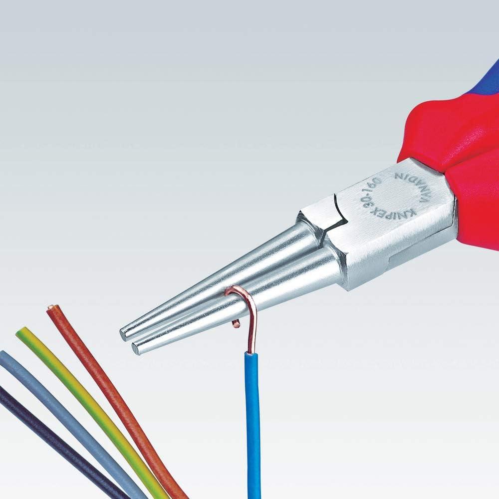 KNIPEX 30 33 160 Pince /à becs longs chrom/ée gain/ées en plastique 160 mm