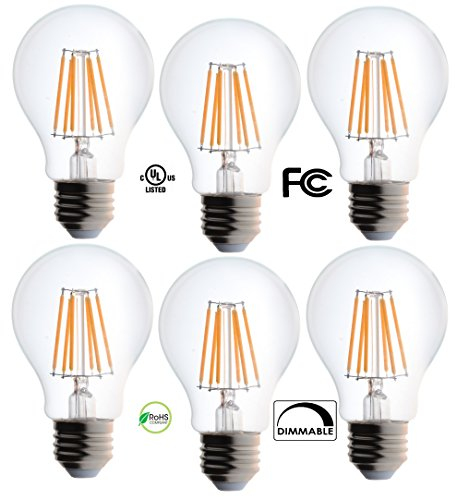 bioluz led clear edison style dimmable filament light bulb import it all. Black Bedroom Furniture Sets. Home Design Ideas