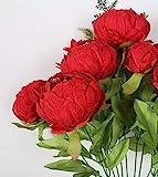 Duovlo Springs Flowers Artificial Silk Peony