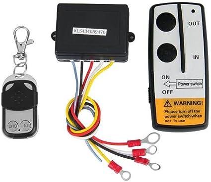 Fesjoy Kit di telecomando per telecomando per verricello wireless universale 12V da 12 V per Jeep ATV SUV