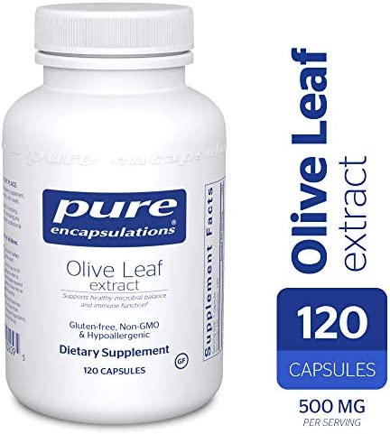 Pure Encapsulations – Olive Leaf Extract – Hypoallergenic Supplement Supports Immune System and Healthy Intestinal Environment* – 120 Capsules